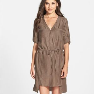 BCBGMAXAZRIA Daya olive green dress